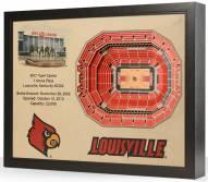 Louisville Cardinals 25-Layer StadiumViews 3D Wall Art