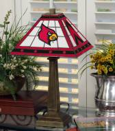 Louisville Cardinals Stained Glass Mission Table Lamp