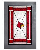 Louisville Cardinals Stained Glass with Frame