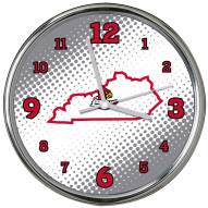 Louisville Cardinals State of Mind Chrome Clock