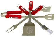 Louisville Cardinals NCAA 4-Piece Stainless Steel BBQ Set