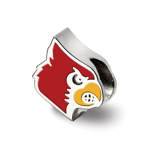 Louisville Cardinals Sterling Silver Enameled Bead