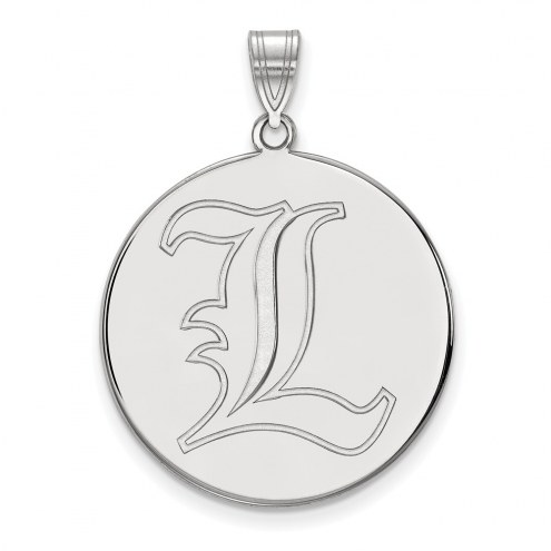 Louisville Cardinals Sterling Silver Extra Large Disc Pendant
