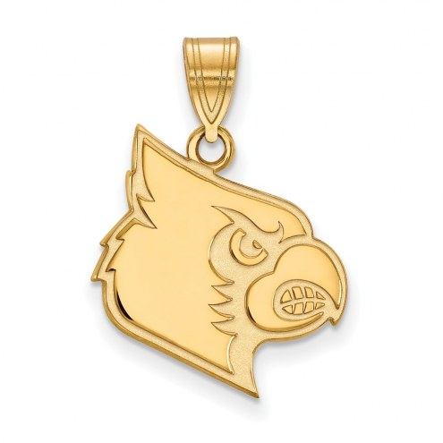 Louisville Cardinals Sterling Silver Gold Plated Large Pendant