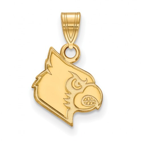 Louisville Cardinals Sterling Silver Gold Plated Small Pendant