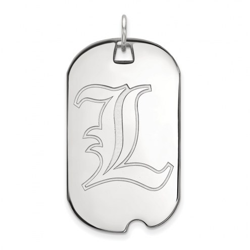 Louisville Cardinals Sterling Silver Large Dog Tag