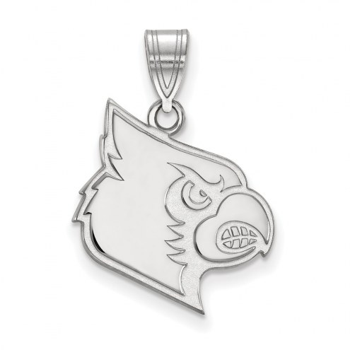 Louisville Cardinals Sterling Silver Large Pendant