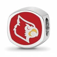 Louisville Cardinals Sterling Silver Logo Bead