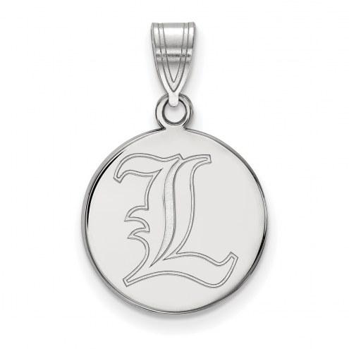 Louisville Cardinals Sterling Silver Medium Disc Pendant