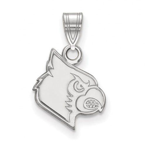 Louisville Cardinals Sterling Silver Small Pendant