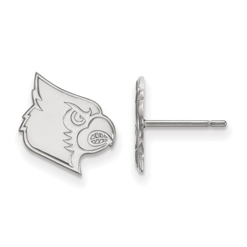 Louisville Cardinals Sterling Silver Small Post Earrings
