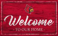 Louisville Cardinals Team Color Welcome Sign