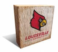 Louisville Cardinals Team Logo Block