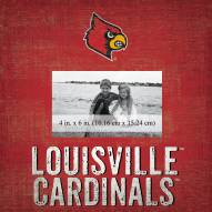 """Louisville Cardinals Team Name 10"""" x 10"""" Picture Frame"""