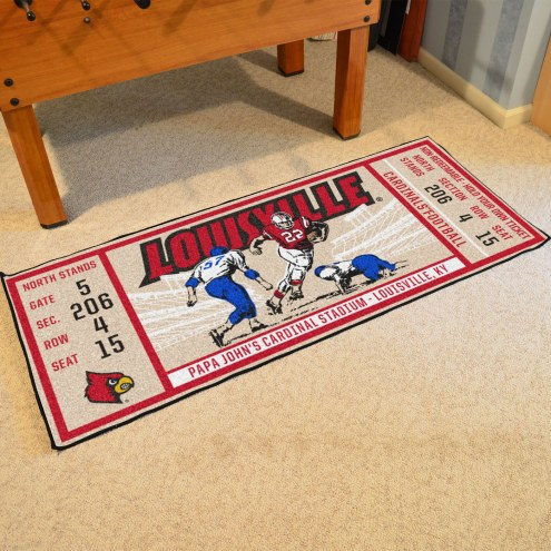Louisville Cardinals Ticket Runner Rug