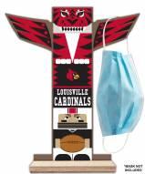 Louisville Cardinals Totem Mask Holder