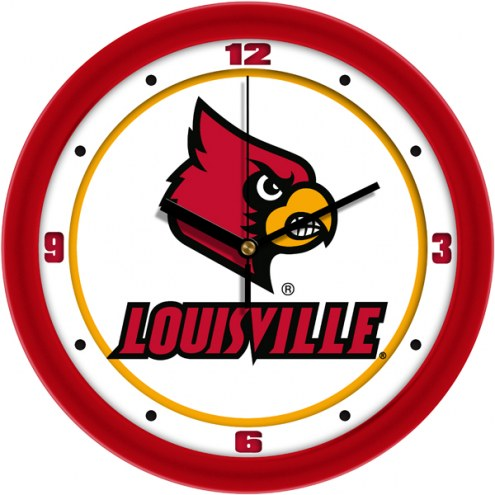 Louisville Cardinals Traditional Wall Clock