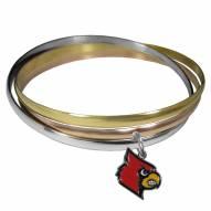 Louisville Cardinals Tri-color Bangle Bracelet