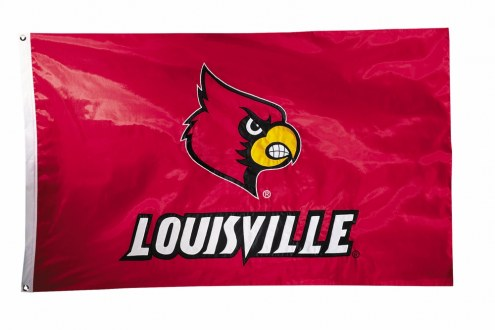 Louisville Cardinals Two Sided 3' x 5' Flag