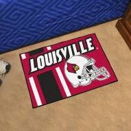 Louisville Cardinals Uniform Inspired Starter Rug