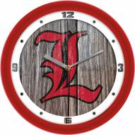 Louisville Cardinals Weathered Wood Wall Clock