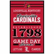 Louisville Cardinals Established Wood Sign