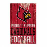 Louisville Cardinals Proud to Support Wood Sign