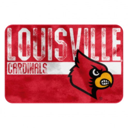 Louisville Cardinals Worn Out Bath Mat