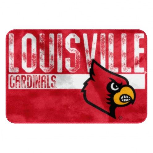 Louisville Cardinals Worn Out Bath Mat