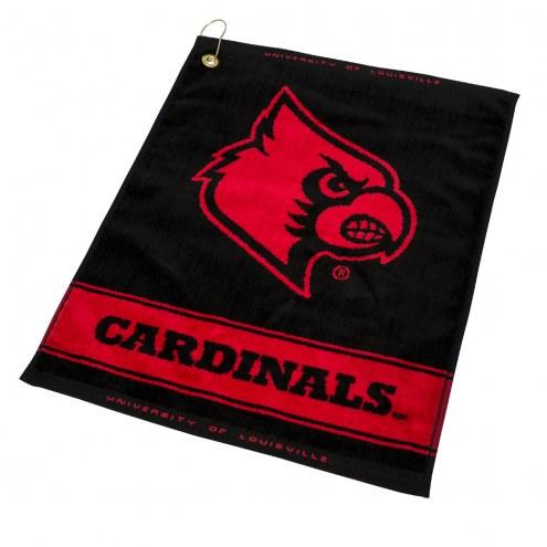 Louisville Cardinals Woven Golf Towel