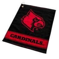 Louisville Cardinals Woven Golf Towel