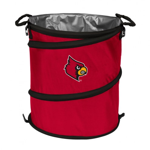 Louisville Cardinals Collapsible Trashcan