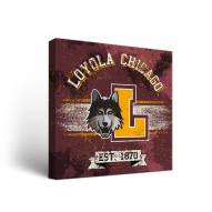 Loyola Chicago Ramblers Banner Canvas Wall Art