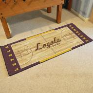 Loyola Chicago Ramblers Basketball Court Runner Rug