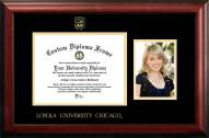 Loyola Chicago Ramblers Gold Embossed Diploma Frame with Portrait