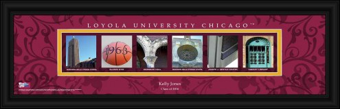 Loyola Chicago Ramblers Personalized Campus Letter Art