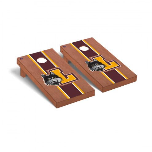 Loyola Chicago Ramblers Rosewood Stained Cornhole Game Set