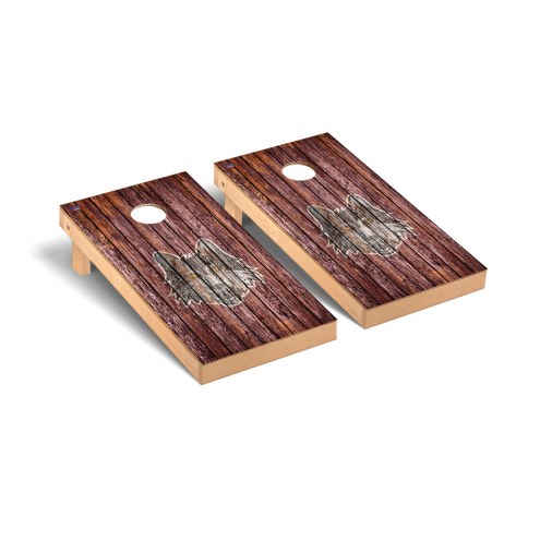 Loyola Chicago Ramblers Weathered Cornhole Game Set