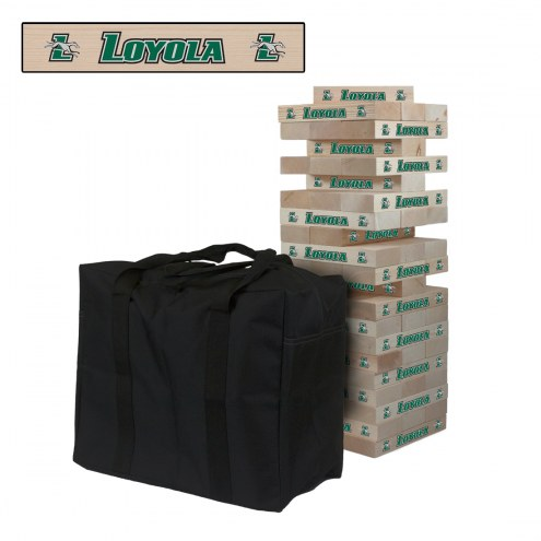 Loyola Greyhounds Giant Wooden Tumble Tower Game