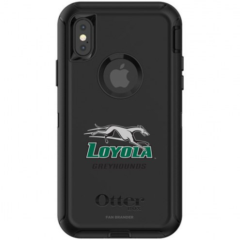 Loyola Greyhounds OtterBox iPhone X/Xs Defender Black Case