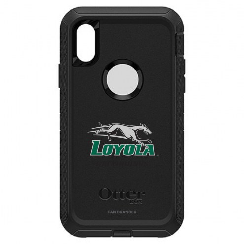 Loyola Greyhounds OtterBox iPhone XR Defender Black Case