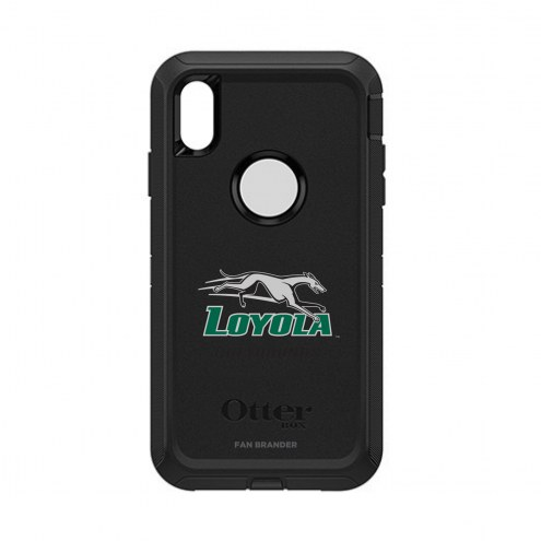 Loyola Greyhounds OtterBox iPhone XS Max Defender Black Case