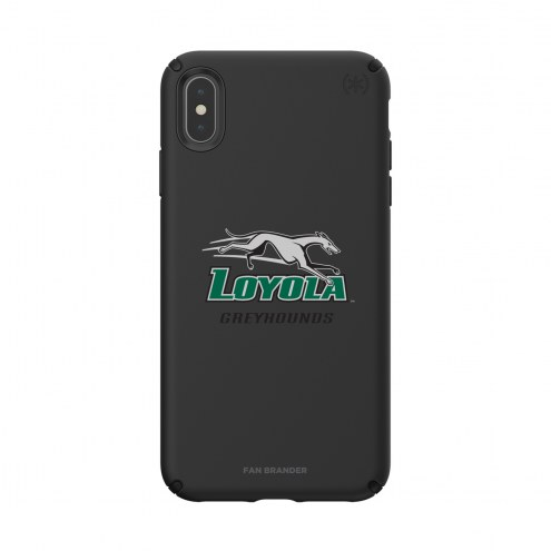 Loyola Greyhounds Speck iPhone XS Max Presidio Pro Black Case