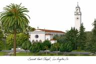 Loyola Marymount Lions Campus Images Lithograph