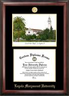 Loyola Marymount Lions Gold Embossed Diploma Frame with Campus Images Lithograph