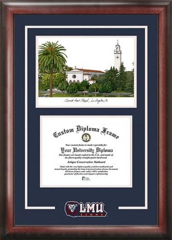 Loyola Marymount Lions Spirit Diploma Frame with Campus Image