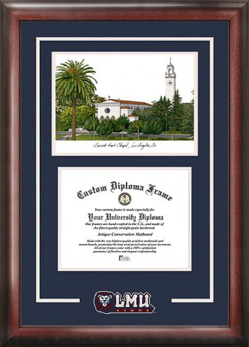 Loyola Marymount Lions Spirit Diploma Frame with Campus Image