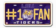 LSU Tigers #1 Fan License Plate
