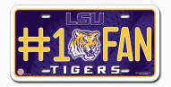 LSU Tigers #1 Fan License Plate