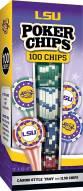 LSU Tigers 100 Piece Poker Chips